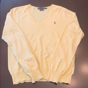 Ralph Lauren size large yellow sweater